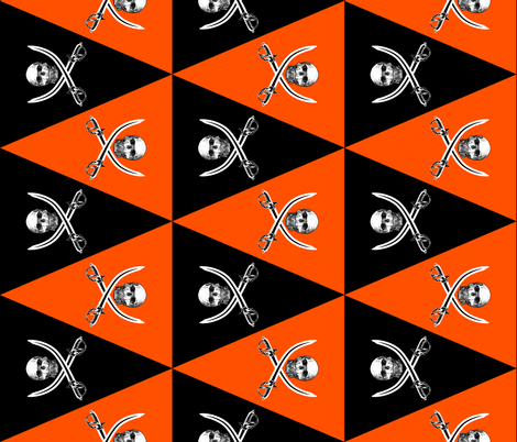 Jolly Roger Pennants ~ Halloween fabric by peacoquettedesigns on Spoonflower - custom fabric