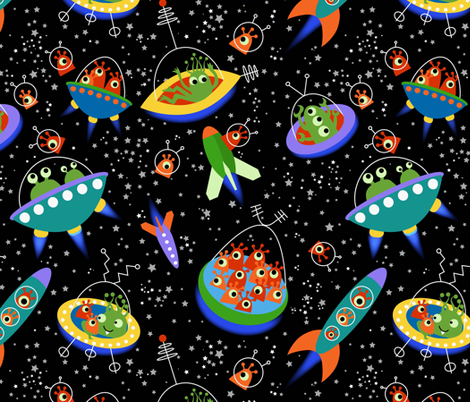 Cruising the Nebula Highway fabric by vo_aka_virginiao on Spoonflower - custom fabric