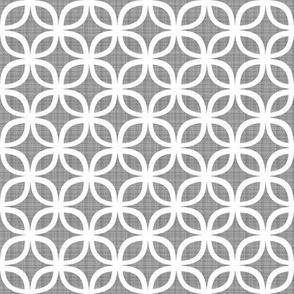 Interlaced Geo Grey Linen