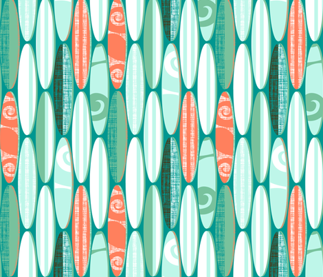 Simply Surf Boards fabric by spellstone on Spoonflower - custom fabric
