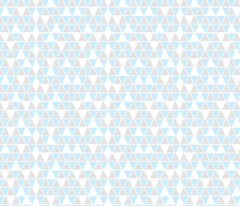 Hex Blue and Grey fabric by mspiggydesign on Spoonflower - custom fabric