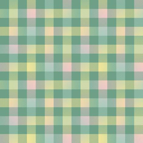spring rainbow gingham fabric by weavingmajor on Spoonflower - custom fabric