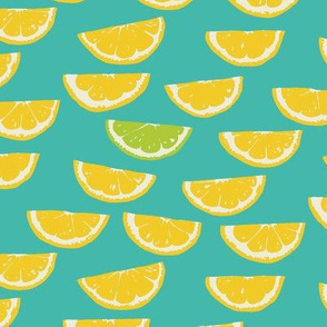 Summer Citrus  - Smaller - Turquoise