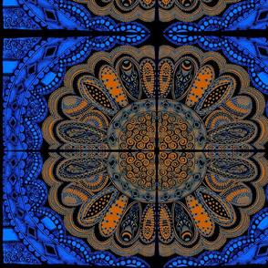 Zentangle Coloring Flower BlueJean