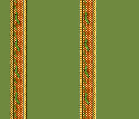 "Caterpillar Crawl 21"" border fabric by whimzwhirled on Spoonflower - custom fabric"