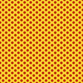 Comic dots, red on yellow