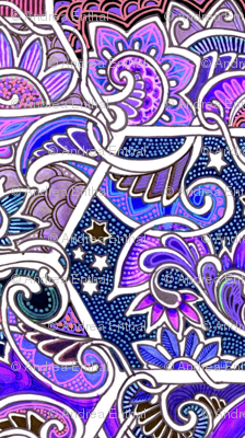 Paisley Crop Under the Stars