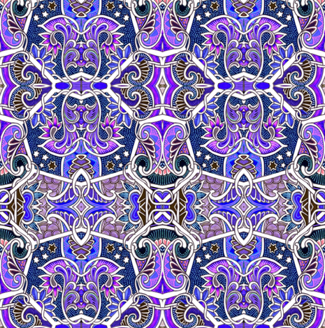 Peter Piper Picked a Patch of Purple Paisley fabric by edsel2084 on Spoonflower - custom fabric