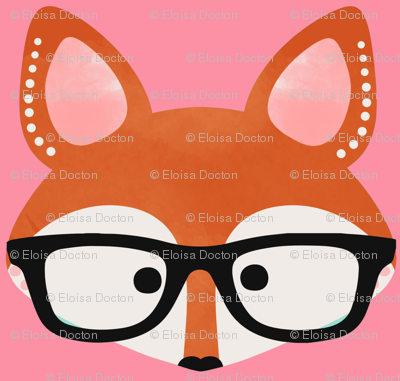 Too cute fox pink