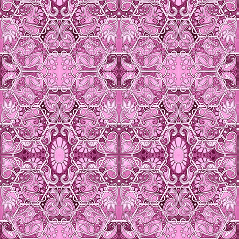 Pink and Paisley Under the Stars fabric by edsel2084 on Spoonflower - custom fabric