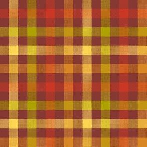autumn gingham - red maple
