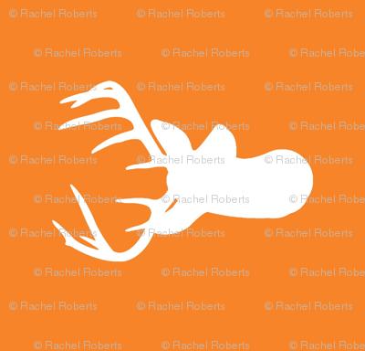 Rotated Orange Deer Heads - Orange Deer