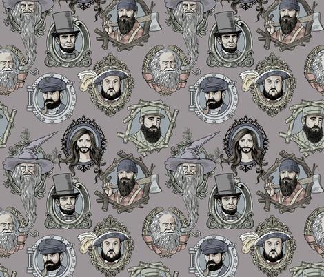 bearded fabric by in_wonderland on Spoonflower - custom fabric