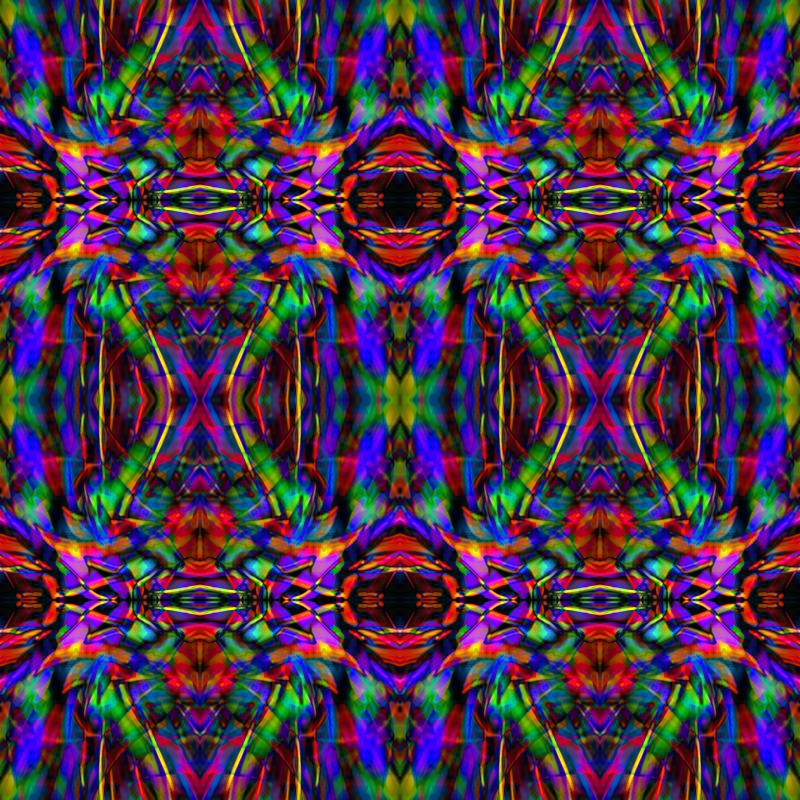 Abstract Rainbow Kaleidoscope Pattern Giftwrap Hippygiftshop Cool Kaleidoscope Patterns