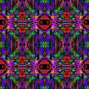 Abstract Rainbow Kaleidoscope Pattern