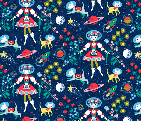 Far Away Folk fabric by cerigwen on Spoonflower - custom fabric