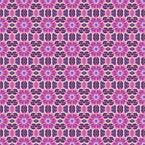 Purple Fractal Art Pattern