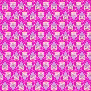 Cute Pink Owl Pattern