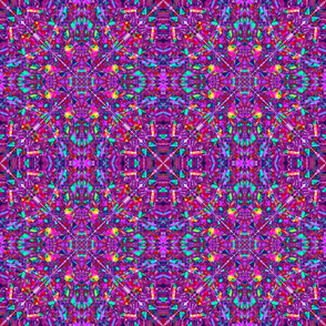 Purple Fractal Art Hippie Pattern