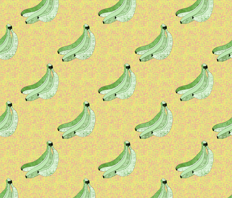 Green bananas fabric by designed_by_debby on Spoonflower - custom fabric