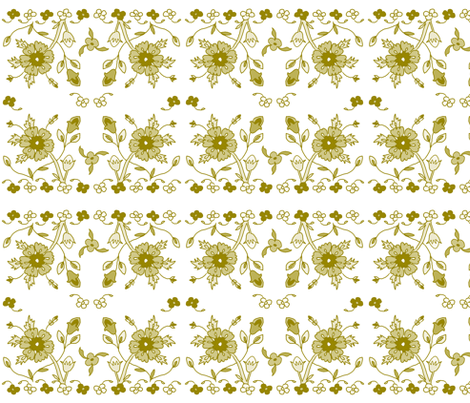 Persian floral - green fabric by designed_by_debby on Spoonflower - custom fabric