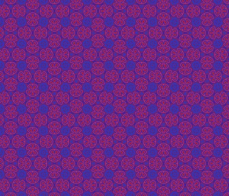 Berry Digital Floral Medium fabric by gingezel on Spoonflower - custom fabric