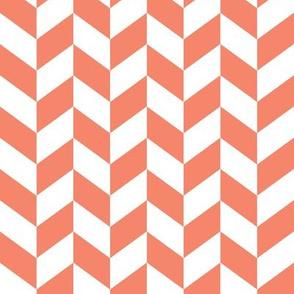 herringbone // coral