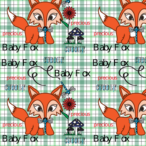 Camille_Fox fabric by michelle_zollinger_tams on Spoonflower - custom fabric