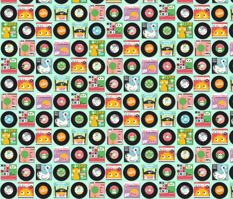 Children's Records fabric by heidikenney on Spoonflower - custom fabric