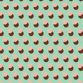Frozen Treat (Mint)    polka dots ice cream summer sweet treat children kids baby nursery sprinkles