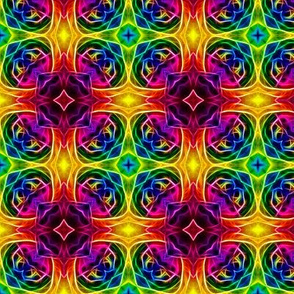 Retro Hippie Rainbow Pattern