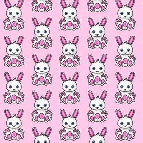 Kawaii Pink Bunny Pattern