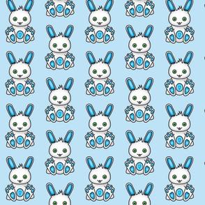 Kawaii Blue Bunny Pattern