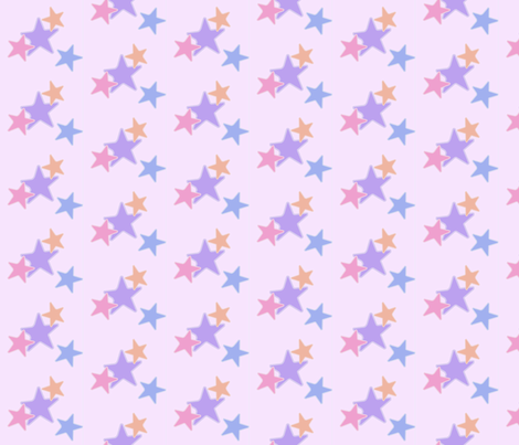 Pastel Stars fabric by elsielevelsup on Spoonflower - custom fabric