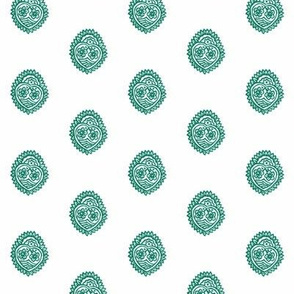 Crowned Heart Overprint Frosted Spruce