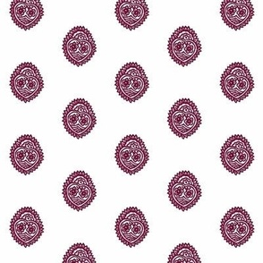 Crowned Heart Overprint Oxblood