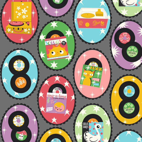 Play The Record fabric by heidikenney on Spoonflower - custom fabric