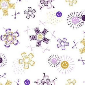 Sewing Notions {Thimblespool Flowers