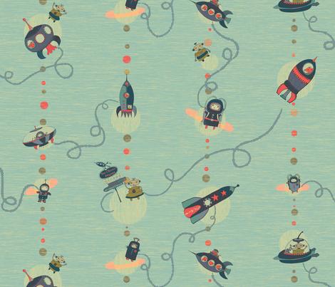 roadtrip to mars fabric by ispy on Spoonflower - custom fabric