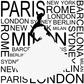 fashion capitals black on white