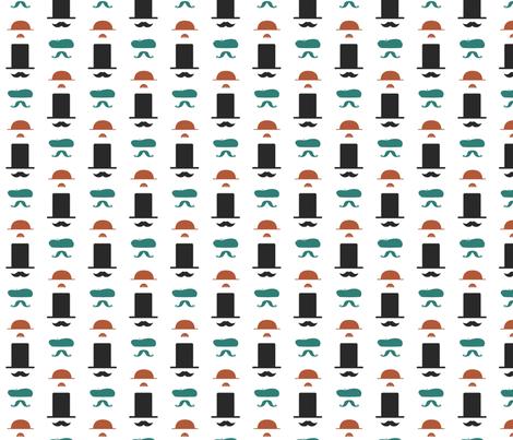 Mustacheos Regular fabric by pamela_hamilton on Spoonflower - custom fabric