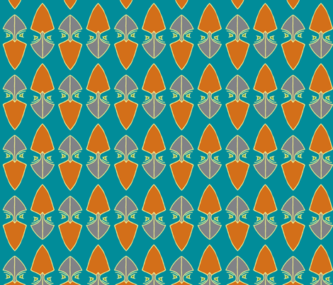 Up North Gingers on teal fabric by ms_majabird on Spoonflower - custom fabric
