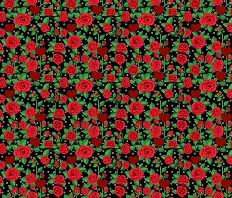 Red Rose/ Valentine Scarlet fabric by magentarosedesigns on Spoonflower - custom fabric