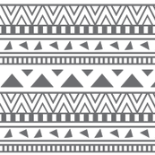 grey and white aztec print