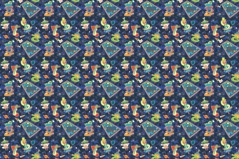 Cosmic_Voyage_Retro fabric by julistyle on Spoonflower - custom fabric