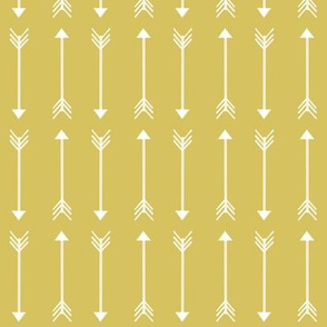 white arrows on olive yellow