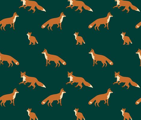 festive fox fabric by annaboo on Spoonflower - custom fabric