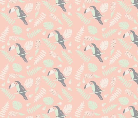 tropical toucan fabric by annaboo on Spoonflower - custom fabric
