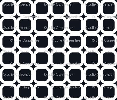 Retro Squared White on Black