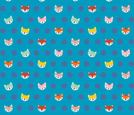 The Magical Foxes fabric by littleoddforest on Spoonflower - custom fabric